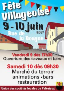 Affiche décrivant la fête villageoise 2017