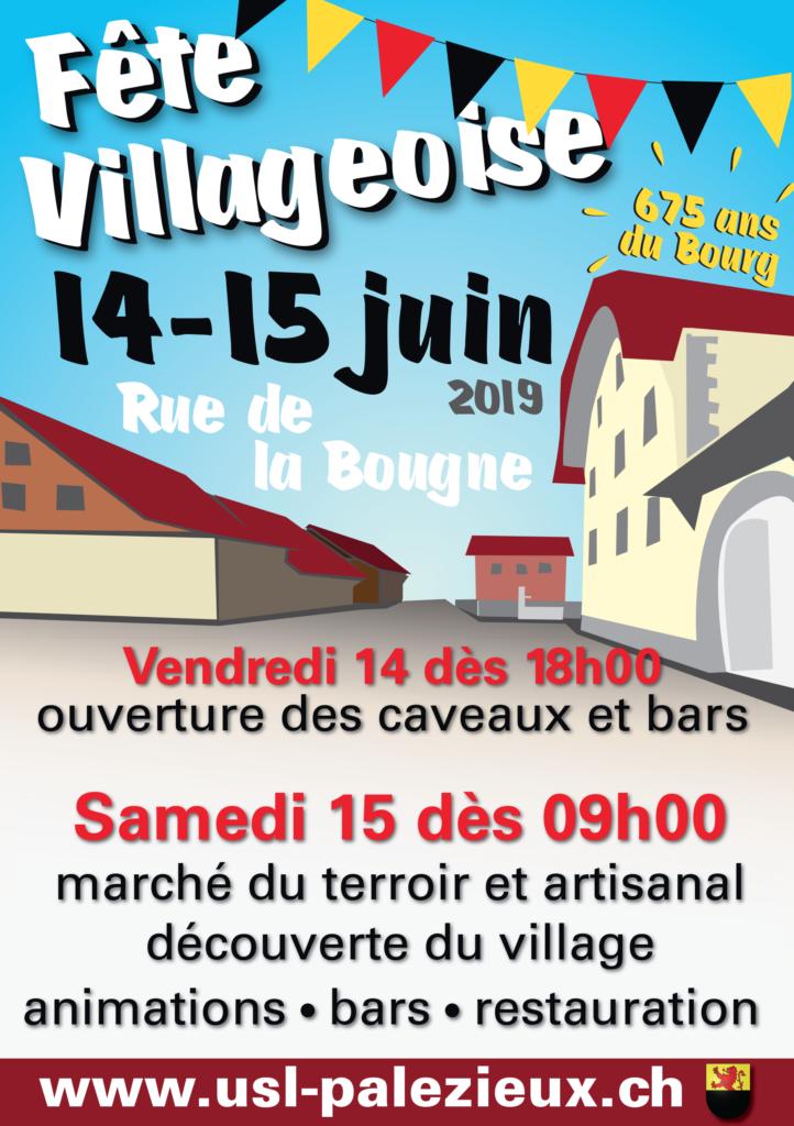 Affiche de la fête villageoise
